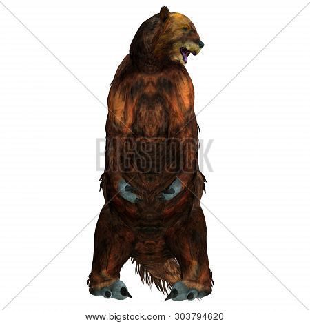 Megatherium Sloth Sitting 3d Illustration - Megatherium Was A Herbivorous Giant Ground Sloth That Li