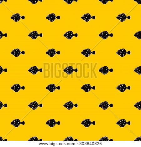 Flounder Fish Pattern Seamless Vector Repeat Geometric Yellow For Any Design