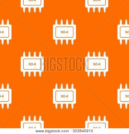 Transistor Microchip Pattern Vector Orange For Any Web Design Best