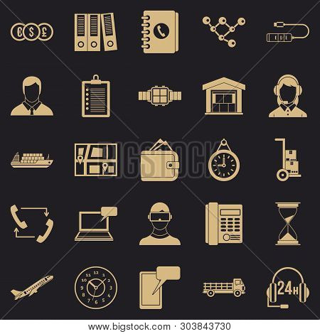 Overtime Icons Set. Simple Set Of 25 Overtime Vector Icons For Web For Any Design