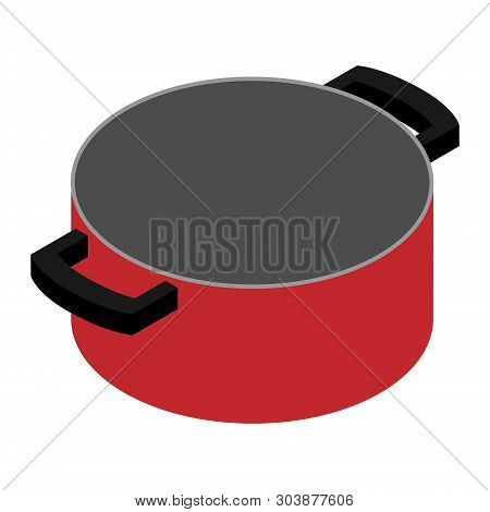 Empty Cooking Pot, Pan Isolated On White Background. Cooking Concept