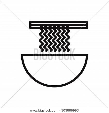 Noodle Icon Isolated On White Background. Noodle Icon In Trendy Design Style For Web Site And Mobile