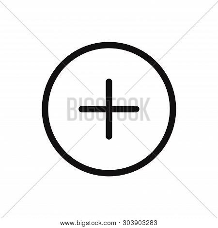 Plus Icon Isolated On White Background. Plus Icon In Trendy Design Style For Web Site And Mobile App