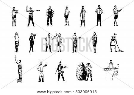 Various Occupations, Financial Analyst, Handyman, Police Officer, School Teacher, Science Workers, P