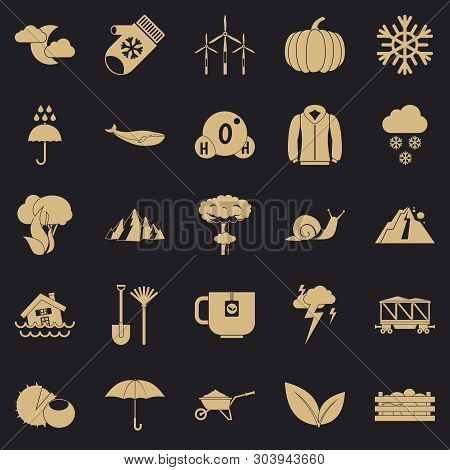 Overcast Icons Set. Simple Set Of 25 Overcast Vector Icons For Web For Any Design