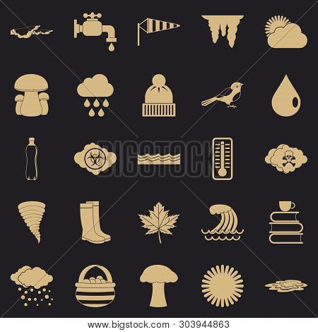 Haziness Icons Set. Simple Set Of 25 Haziness Vector Icons For Web For Any Design