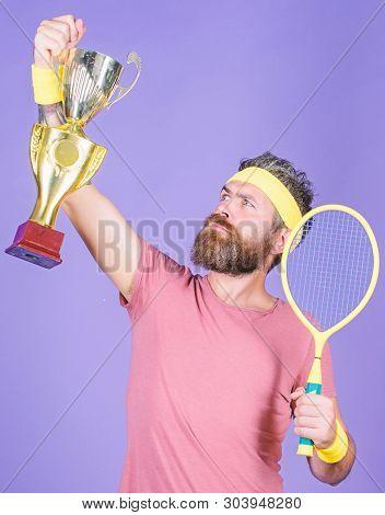 Win Tennis Game. Tennis Match Winner. Achieved Top. Tennis Player Win Championship. Athlete Hold Ten