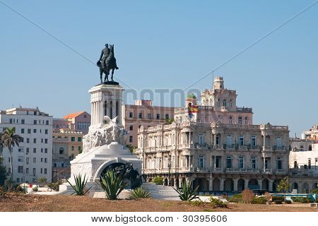 A view of Spanish embassy, cuba