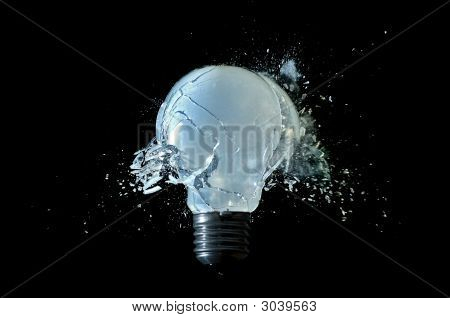 Destroyed Light Bulb
