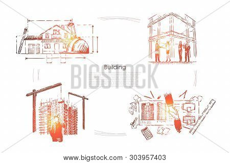 House Planning, Construction Site Safety Check, Architectural Project Approval, Building Industry Ba
