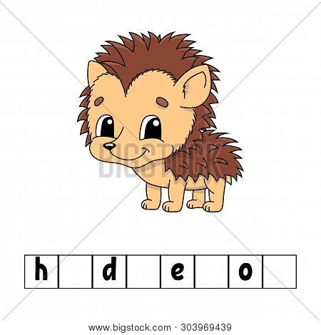 Words puzzle. Education developing worksheet. Learning game for kids. Activity page. Puzzle for children. Riddle for preschool. Simple flat isolated vector illustration in cute cartoon style poster