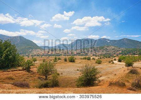 Summer View Of A Mountain Valley On A Sunny Day. Dinaric Alps, Bosnia And Herzegovina, Republika Srp