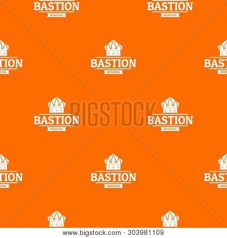 Bastion Medieval Pattern Vector Orange For Any Web Design Best