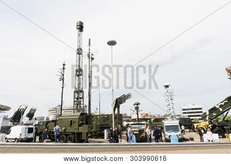Belarus, Minsk, 17 May 2019: 9th International Exhibition Of Armament And Military Equipment Milex -
