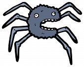 frightened spider cartoon poster