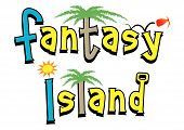 Bounce on down to the fantasy island. Perfect for beach parties or themed club nights poster