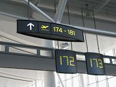 modern interior airport gate signs 172 173 poster
