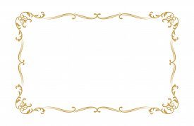 Golden Ornament Pattern Frame, Border Ornament Pattern Frame, Engraving Ornament Pattern Frame, Orna