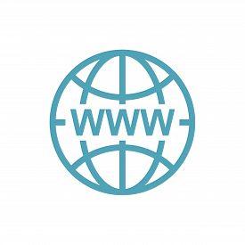 Www Icon In Modern Color. World Wide Web Concept Globe Icon Set. Planet Web Symbol Set. Globe Icons