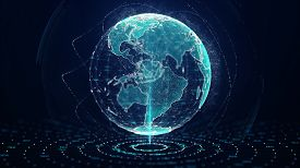 Growing Global Network Concept.