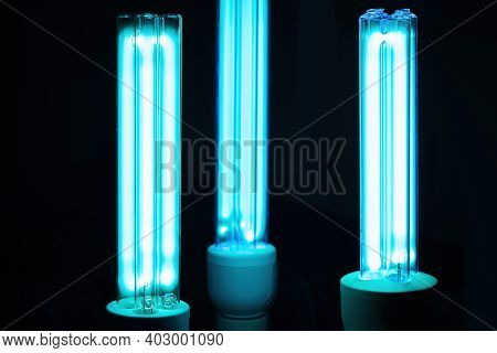 Uvc Lamp For Sterilization - Covid-19 Prevention Concept