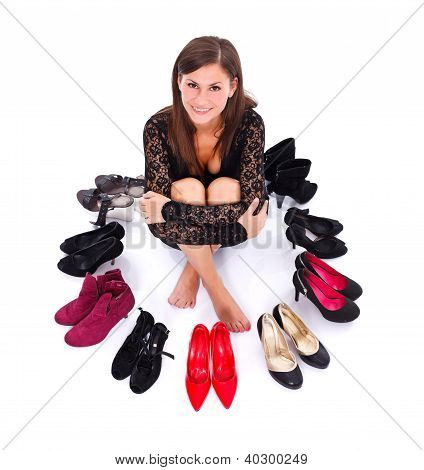 Girl With Her Shoes