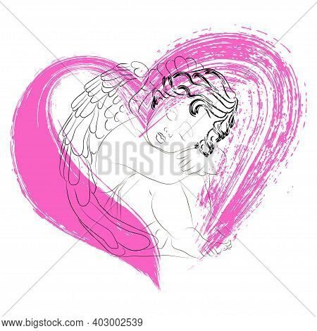 Abstract, Angel Sitting, Art, Baby, Beautiful, Beauty, Card, Celebration, Cupid, Cute, Day, Decorati