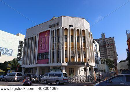 Lukang, Taiwan - December 2, 2018: True Jesus Church In Lukang, Taiwan. It Is Part Of Pentecostal Mo