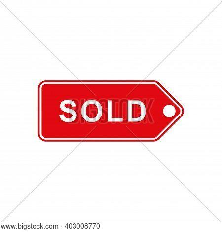 Sold Icon Concept Logo Vector Concept Design