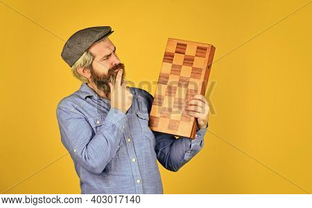 Grandmaster Experienced Player. Game Strategy Concept. Chess Lesson. Cognitive Development. Teacher