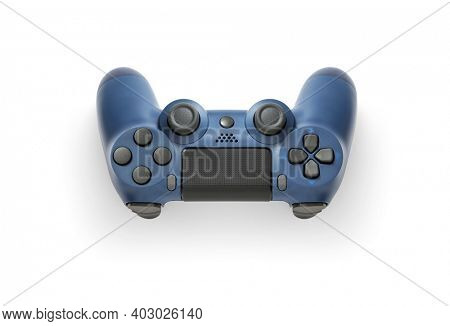 Gamepad or gaming controller on white background, including clipping path