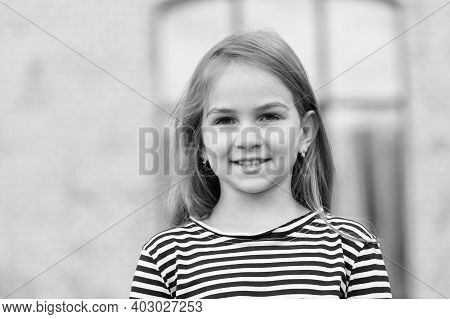 Better Skincare, Beautiful Skin. Beauty Look Of Little Girl. Happy Child Urban Outdoors. Baby Skinca
