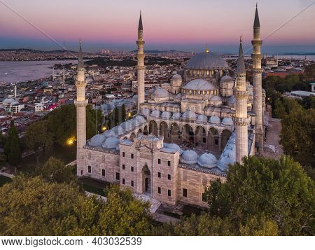 The Suleymaniye Mosque Is An Ottoman Imperial Mosque In Istanbul, Turkey. It Is The Largest Mosque I