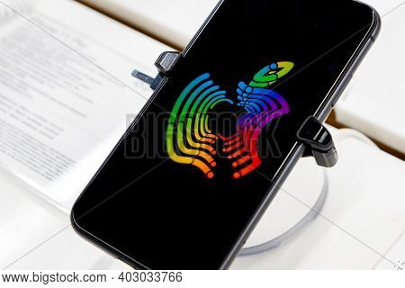 Rostov-on-don, Russia - Circa November 2019: Illustrative Apple Inc Logo