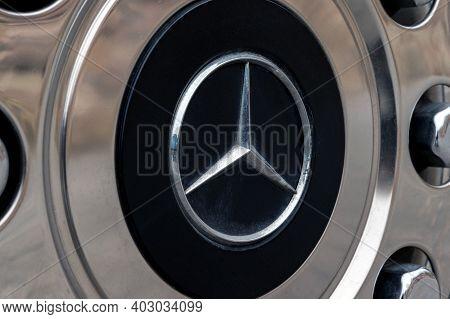 Rostov-on-don, Russia - Circa December 2020: Mercedes Benz Logo