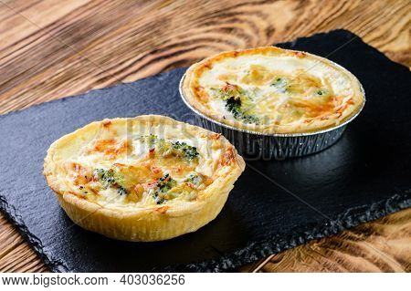Tartlet With Cheesy Filling. Fresh Pastries. Delicious And Healthy Range Of Bakery. Hearty Tartlets.