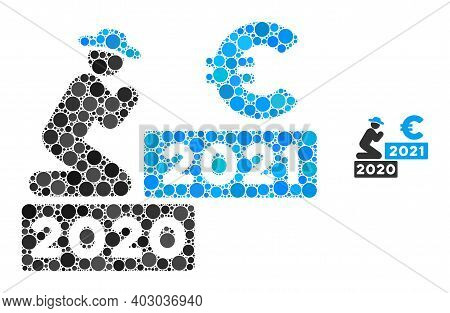Gentleman Pray Euro 2021 Composition Of Dots In Variable Sizes And Color Hues. Vector Dots Are Organ