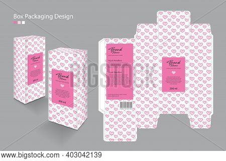Box, Packaging Template For Cosmetic, Supplement, Spa, Beauty, Food, Hair, Skin, Lotion, Medicine, C