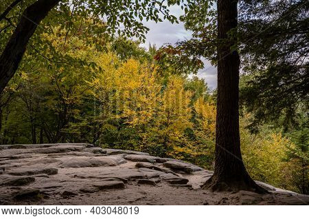 Autumn Colors At Overlook On The Ledges Trail In Cuyahoga Valley National Park