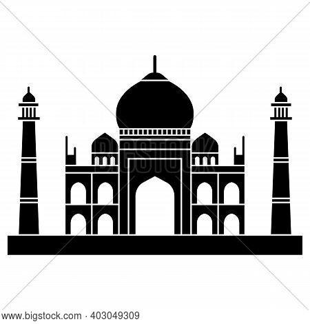 Taj Mahal Culture Architecture Vector Building . Silhouette Of Tajmahal