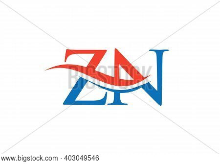 Premium Letter Zn Logo Design With Water Wave Concept. Zn Letter Logo Design With Modern Trendy