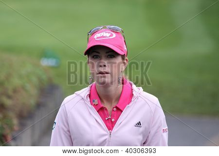 Paula Creamer (USA) at Evian Masters golf cup 2011