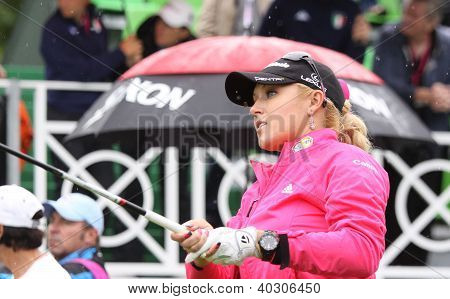 Natalie Gulbis (USA) at Evian Masters golf cup 2011