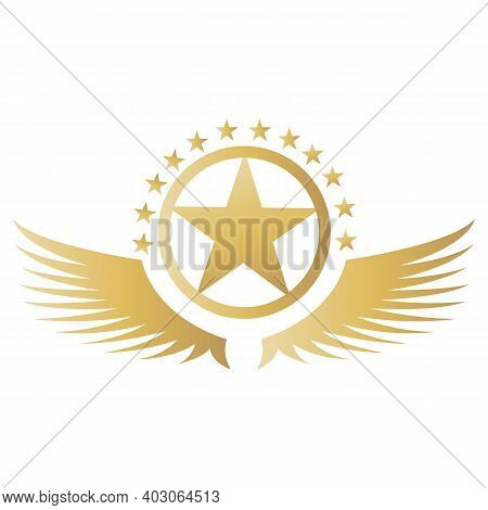 Wings Logo Abstract Design Template Wings Logo. Aircraft Wings Logo Icon. Modern Heraldic Wings Logo