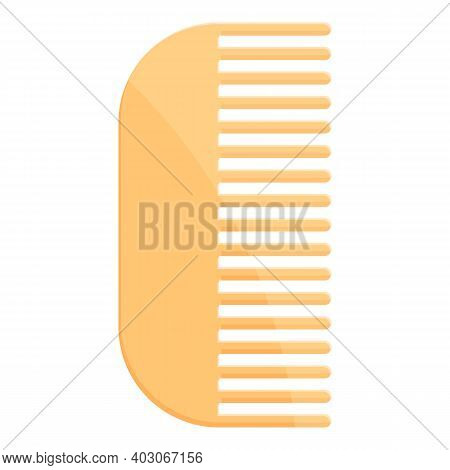 Biodegradable Plastic Comb Icon. Cartoon Of Biodegradable Plastic Comb Vector Icon For Web Design Is