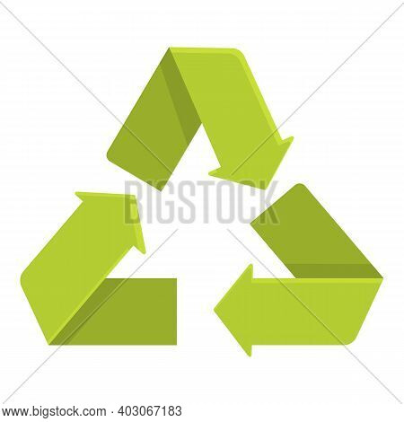 Biodegradable Plastic Triangle Icon. Cartoon Of Biodegradable Plastic Triangle Vector Icon For Web D