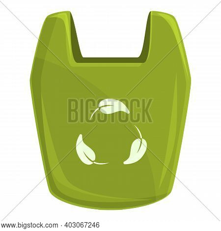 Biodegradable Plastic Bag Icon. Cartoon Of Biodegradable Plastic Bag Vector Icon For Web Design Isol