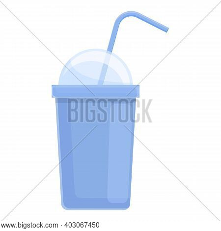Biodegradable Plastic Cup Icon. Cartoon Of Biodegradable Plastic Cup Vector Icon For Web Design Isol
