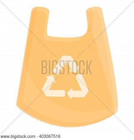 Biodegradable Plastic Waste Bag Icon. Cartoon Of Biodegradable Plastic Waste Bag Vector Icon For Web