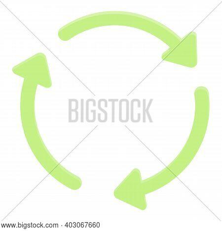 Biodegradable Plastic Circle Icon. Cartoon Of Biodegradable Plastic Circle Vector Icon For Web Desig